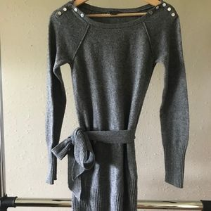 A/X Armani Exchange long gray sweater with tie